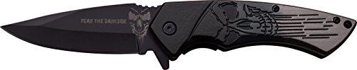 Dark Side Blades Couteau de Poche Black Grey 2 Face, Longueur de la Lame : 8,26 cm, DS de a053gy