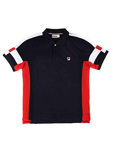 Fila Vintage Herren Prago Panel Polo Shirt, Blau, Small (Vintage Shirt Fila)