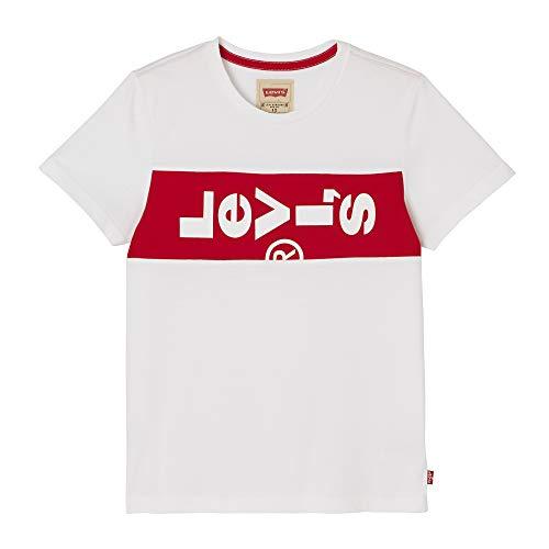 Levi's Kids Jungen Nn10007 01 Short Sleeve Tee T-Shirt, Weiß (White), 14 Jahre (Herstellergröße: 14Y) - Jungen Red Tab