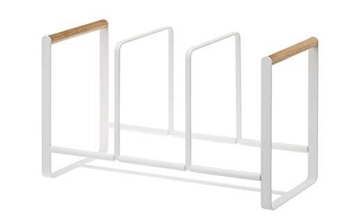 Yamazaki dishrak portapiatti, métal, Blanc