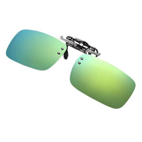 Junecat Unisex polarisierte Klipp auf Sonnenbrille Männer Frauen Myopie Flip Up Sonnenbrillen Night Vision Driving Brillen