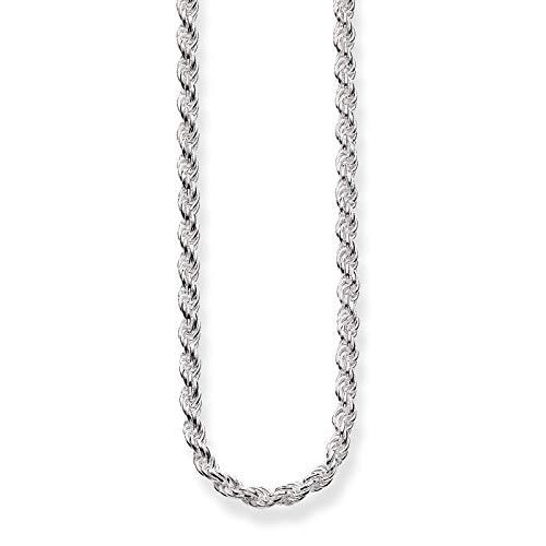 Thomas Sabo Damen-Kette Kordelkette Glam & Soul 925 Sterling Silber Länge 80 cm KE1349-001-12-L80