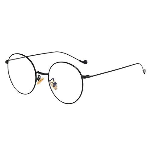 Deylaying Metall Dünn Runden Rahmen Kurzsichtig Brille Kurzsichtigkeit Myopia Brille Kurzsicht Brille für Studenten Lehrer -1.0~-6.0 (Diese sind nicht Lesen Brille)