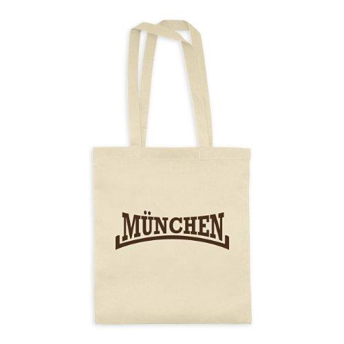 dress-puntos Baumwolltasche München Arch Style Germany 20drpt15-bwt00318-27 Textil natural / Motiv braun - 42 x 38 cm (Natural Arch)