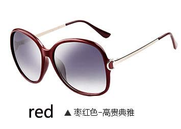 LKVNHP Hd Anti Ermüdung Oculos De Sol Feminino Original Komfortable Sonnenbrille Frauen Polarisierte ÜbergroßenWPGJ045 rot