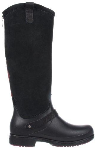 Stivaletto Alto Crocs In Pelle Scamosciata Equestre, Damen Stiefel Nero (schwarz (nero / Nero)))