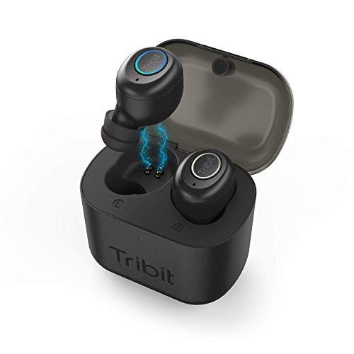 Auricolari Bluetooth 5.0, Tribit X1 Wireless Bluetooth con Bassi ricchi stereo, 18 ore di riproduzione, Earbuds con MIC per iPhone e Android con Scatola Ricarica Portatile