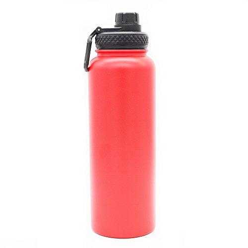 Yitye doppio in acciaio inox sport bottiglia d' acqua per bere tazza termica da viaggio escursionismo & design moderno, 1200ml, red