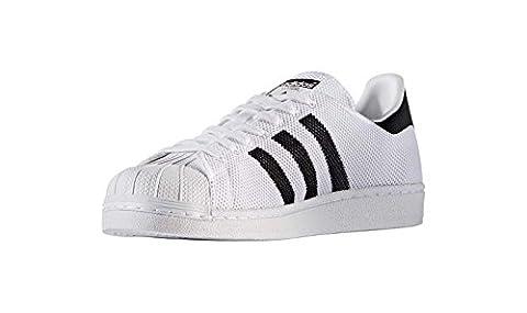 adidas Originals Superstar, Baskets Basses Mixte Adulte, Blanc (Ftwwht/Cblack/Ftwwht), 42 2/3 EU