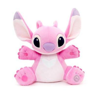 official-disney-lilo-stitch-33cm-medium-pink-angel-soft-plush-toy