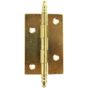 Curio China Schrank (hb-59Butt Scharnier mit Endstücken, 5,1cm breit x 15/20,3cm High-2pc/Pack + Gratis Bonus (Skelett Schlüssel Badge))