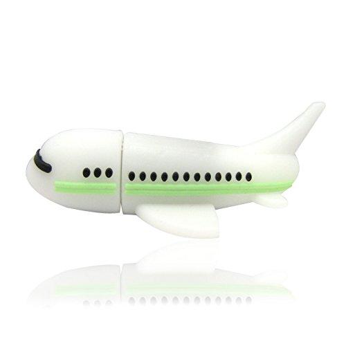 818-Shop No18900080128 USB-Sticks 128GB Flugzeug Jet 3D weiß (Jet-usb-flash-laufwerk)