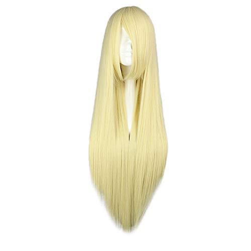 Luckhome Perücke Frauen Damen Haar Lang Wig Für Karneval Fasching Cosplay Party Kostüm Weiblich 80cm /