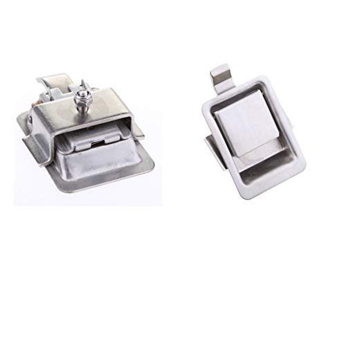 Shiwaki Spannverschluss Edelstahl Spannverschluss Scharniere Schnappverschluss Klappbar Abschließbar Set