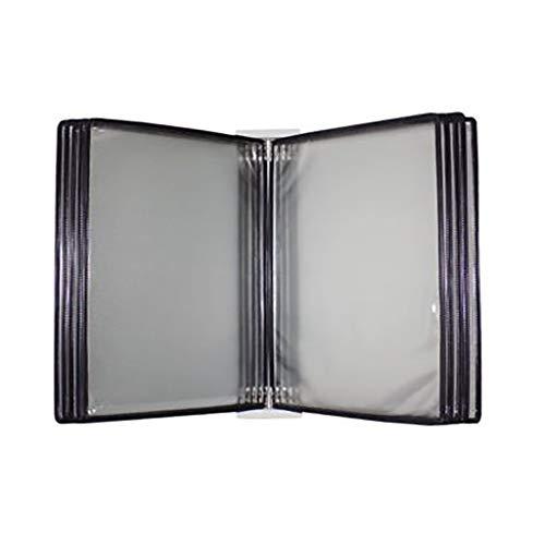 Dokumentenmappe a4 schwarz mit 10 Platten und 20 Taschen (PVC + Metall) 35 * 24 * 8CM (Farbe : A) -