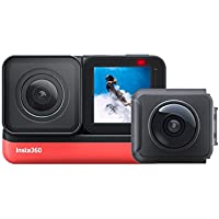 Insta360 ONE R Sports Video Adaptive Action Camera Voice Control IPX8 Waterproof (360+4k Twin Edition)