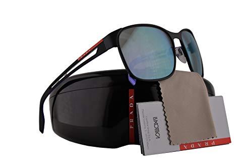 Prada PS52TS Sonnenbrille Schwarzer Radiergummi Mit Grauem Verlaufsglas Gläsern 59mm DG0140 SPS52T PS 52TS SPS 52T