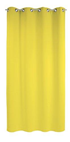 Belles demeures - tenda occhielli tinta unita 100% cotone 140 x 250 giallo