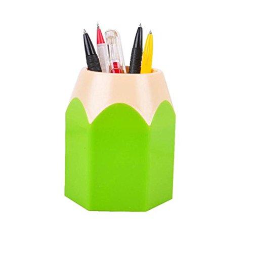 Oyedens Pen Pot Bleistift Stifthalter Schreibwaren Topf Lagerung Stifthalter Make-up Pinsel Vase Bürste Vase Muster Stifthalter Schwarz Grün Blau Rosa Rot