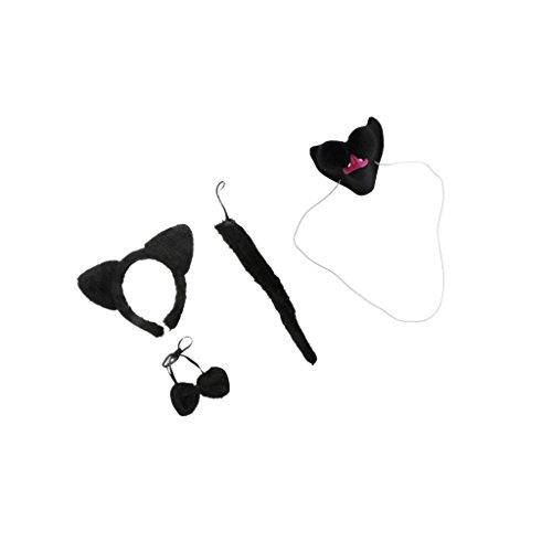 Nase Ohr Stirnband Schwanz Schleife Erwachsene Kinder Kit Set Kostüm Zubehör (Einfache Spaß-halloween-spiele)