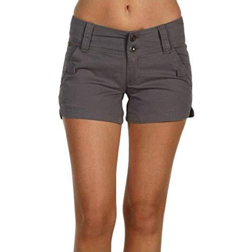 70 Kostüm S Hot - Dasongff Damen Shorts, Kurze Chino Hosen, Damenhosen, Bundfaltenhosen, Button Up Bermuda Kurze Hose, Stilvoll Chino-Hose, Bequeme Stoffhose,Hot-Pants,S-5XL