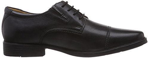 Clarks Tilden Cap, Derbies à lacets homme Noir (Black Leather)