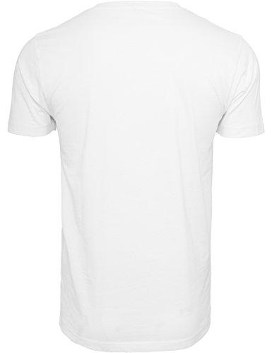 Mister Tee F#?KIT Tee, Herren Streetwear T-Shirt in Weiß und Schwarz, Größe XS bis 3XL White