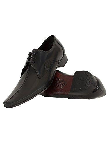 Jeffery West Homme Pino Chaussures poli, Noir Noir