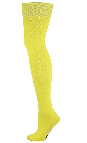 Knie Hoch lang Socken Gelb (Lange Gelbe Socken)