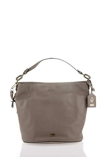 Karl Lagerfeld , Sac pour femme à porter à l'épaule gris Taupe