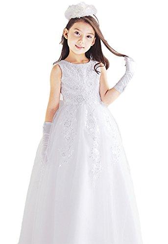 SK Studio Mädchen Kleid Gr. Etikett 120, weiß
