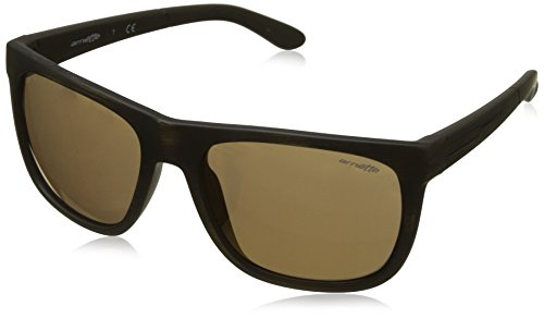Arnette 0an4143 23497d 58, occhiali da sole uomo, nero (matte goldy black/brownmirrorbronze)