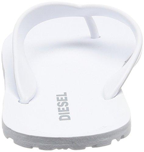Diesel Splish Herren Sandalen Schwarz Weiß (White)