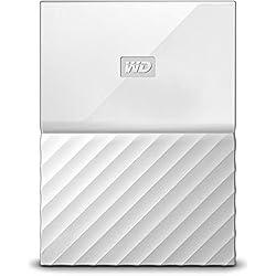 WD - My Passport - Disque dur externe portable USB 3.0 avec sauvegarde automatique et sécurisation par mot de passe - 1To, Blanc