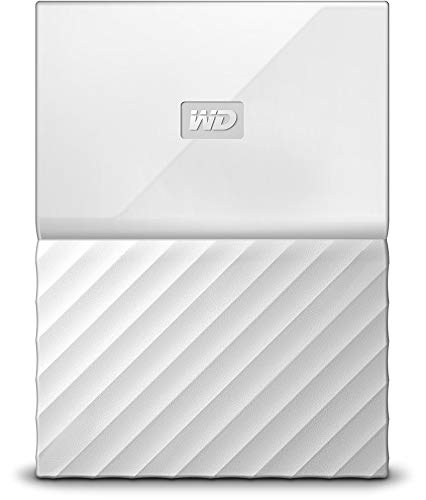 "Western Digital My Passport - Disco Duro Externo portátil de 1 TB (2.5"", USB 3.0), Acabado estandar, Color Blanco"
