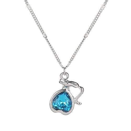 lymty Neue europäische und amerikanische Accessoires 12 Sternbild Kristall Anhänger Schlüsselbein Kette Einfache Wilde 12 Sternbild Halskette