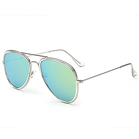 O-C women and men's Classical&Fashion stylish UV400 metal colorful Sunglasses 55mm Width lens (Alpine Man-kostüm)