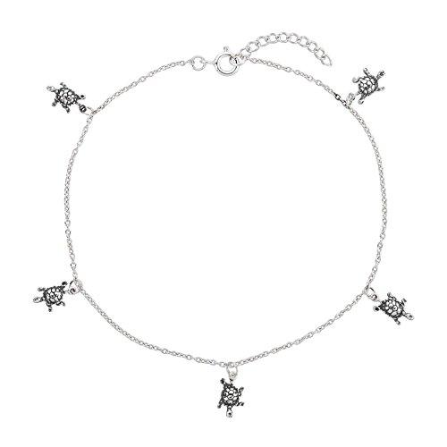 FIVE-D Fusskette Fusskettchen Schildkröte Länge 23-25 cm 925 Sterling Silber