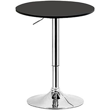 Deuba Table Haute 4 pieds Table Ronde de Bar Table de Bistrot Table ...