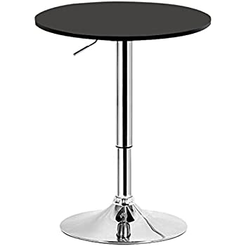 Table De Bar Noir.Woltu Bt02sz Table De Bar En Mdf Pied Table Ronde Design Hauteur Reglable Noir