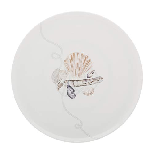 DEGRENNE 232388 Deauville Plat a tarte ronde 32 cm, Blanc