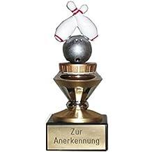 auf schwarzem Marmorsockel mit Ihrer Wunschgravur Herren Bowling-Pokal