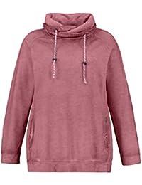 cbeada161019e7 Ulla Popken Damen große Größen bis 64, Sweatshirt, Cold Dyed, Stehkragen,  Lange Raglanärmel, Innenseite aus…
