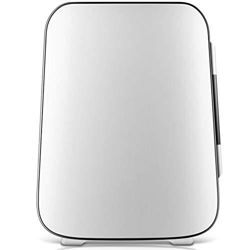 Mini Réfrigérateur, Compact 4L Frigo Réfrigération et Plus Chaud Portable Petit Frigo convient Pour Voiture Dortoir Bureau-Blanc/Gris