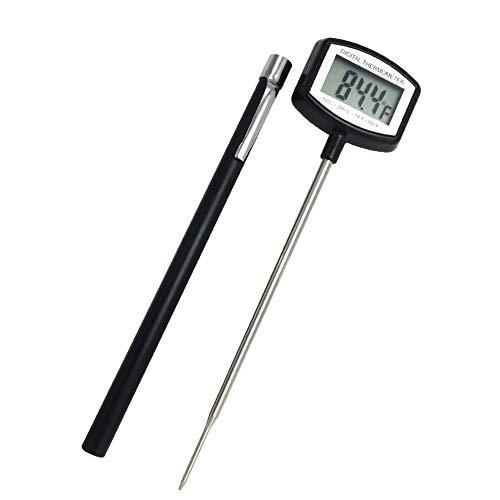 Termometro cucina, termometro da cucina digitale lettura immediata con schermo lcd sonda lunga, multi-funzionale per alimenti carne griglia bbq olio latte e acqua