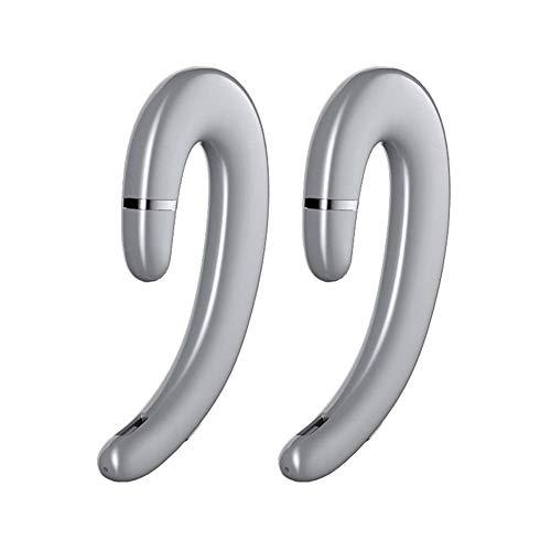 Actualizar Los Audífonos De Conducción Ósea,Dos Auriculares Inalámbricos Bluetooth Interconexión Binaural Para La Conducción Deportiva Auricular De Música Estéreo, Bluetooth 5.0 Y IPX5 A Prueba De Agua,Silver