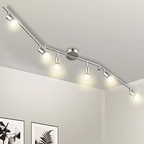 Wowatt Lámpara de techo LED Plafón con Focos Giratorios Lámpara de salón...