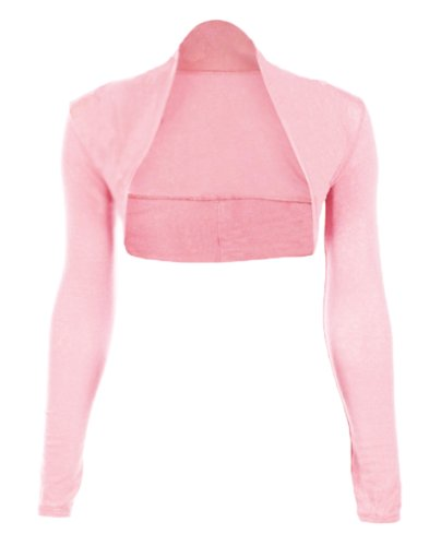 Ladies-Long-Sleeve-Jersey-Shrugs-Multiple-Colours-available-in-the-listing