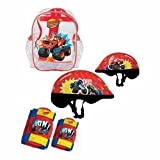 Blaze and the monster machine DARP-OBMM004 Protections Helmet/Knees/Elbows Pads in a Crystal Bag