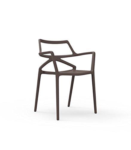 Vondom Delta Armlehnstuhl - bronze - Jorge Pensi Design Studio - Design - Gartenstuhl -...